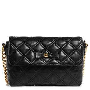Marc Jacobs black quilted chain handbag